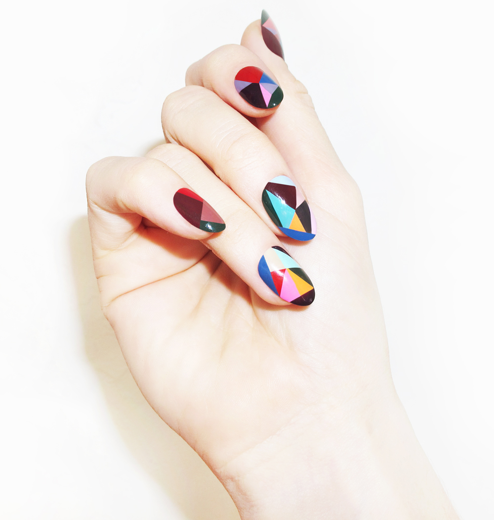 DIY Color Block Nails